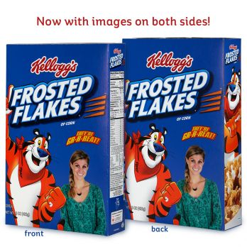 Kellogg's Frosted Flakes® Photo-On-A-Box front and back view
