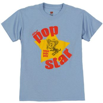 Pop Star Light Blue T-Shirt - Youth front view