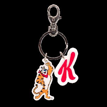 Tony the Tiger and the Kellogg logo on a key chain