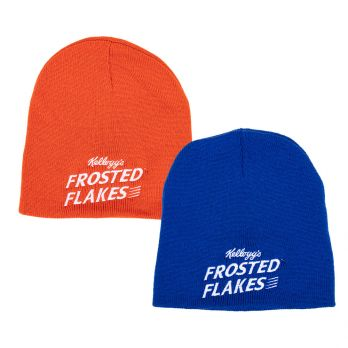Knit beanie with Frosted Flakes logo