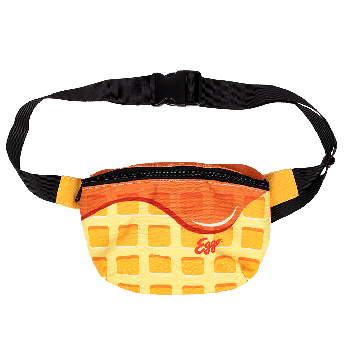 Fanny Pack with the Eggo waffle design and logo