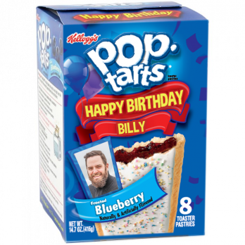 Pop-Tarts® Personalized Photo-On-A-Box front blueberry view